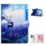 Patterned 10-inch Universal Leather Tablet Case for Surface Go Etc. – Elk in the Forest