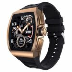 1.4-inch Business Square Screen Heart Rate Blood Pressure Sport IP68 Waterproof Smart Watch – Gold