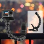 Clamp Mount with Flexible Adjustable Gooseneck for GoPro Hero 8 7 6 5 Sjcam Yi 4K Action Camera Tripod Accessory