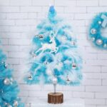 45cm/60cm Height Pink Christmas Tree & Glitter Balls Set Xmas String Light Decorations – 60cm