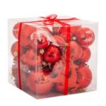 50Pcs/Box Christmas Tree Balls Pendant Xmas Party Decor – Red
