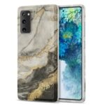 Gilding Marble Pattern Printing TPU Phone Cover Shell for Samsung Galaxy S20 FE/S20 Fan Edition/S20 FE 5G/S20 Fan Edition 5G/S20 Lite – Black / White