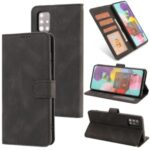 TPU + Classic Style PU Leather Wallet Stand Phone Cover Shell for Samsung Galaxy M31s – Black