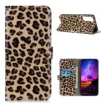 Leopard Pattern Leather Stand Wallet Phone Cover for Samsung Galaxy S21 Plus/S30 Pro