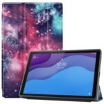 Tri-fold Stand + Pen Slot + Pattern Printing Leather Case for Lenovo Tab M10 HD Gen 2 TB-X306 – Cosmic Space