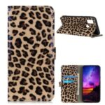 Leopard Texture Glossy Stand Cover for OnePlus Nord N10 5G Wallet Leather Case