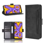Multiple Card Slots Leather Wallet Mobile Phone Case for Wiko View5/View5 Plus – Black