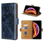 Leather Stand Case for OnePlus Nord N100 Card Holder Cover – Blue