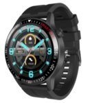 LEMONDA SMART Q88 1.28-inch Full Circle Full Touch Smart Watch Heart Rate Monitor Health Steward IP67 F Fit – Black