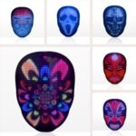 APP-control LED Mask Glowing Facial-changing Mask Halloween Party Carnival Party Atmosphere Props