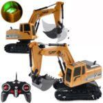 1027 RC Trucks Mini Remote Control Bulldozer 1:24 6CH Tractor Engineering Car with Light Sound