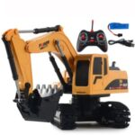 1028 RC Trucks Mini Remote Control Bulldozer 1:24 5CH Tractor Engineering Car with Light