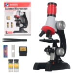 C2121 100-1200X Magnification Kids Educational Microscope Kit Science Lab LED Toy