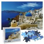 1000-Piece Jigsaw Puzzle Decompression Floor Puzzles DIY Home Decoration Educational Toys Fun Games [Family Edition] – Aegean Sea