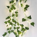 Artificial Ivy Garland Fake Plants Vine Hanging Garland with 2m 20-LED String Light – Creeper