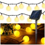 Solar LED String Light Crystal Ball Solar Christmas Lights IP65 Waterproof 8 Modes Outdoor Solar Light – Warm White/5 meters 20 lights