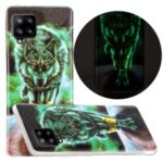 Unique Noctilucent IMD Soft TPU Protector for Samsung Galaxy A42 5G Phone Cover – Angry Wolf