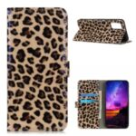 Leopard Pattern Wallet Leather Stand Phone Cover for Samsung Galaxy A02s