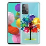 Pattern Printing Soft TPU Cell Phone Cover for Samsung Galaxy A52 5G – Colorful Tree