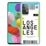 Protector Cover for Samsung Galaxy A52 5G Creative Boarding Check TPU Case – LOS ANGELES