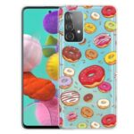 Pattern Printing Soft TPU Cell Phone Cover Shell for Samsung Galaxy A52 5G – Doughnut