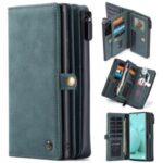 CASEME 018 Series Matte Skin Leather Wallet 2-in-1 Case for Samsung Galaxy S21 Ultra – Blue