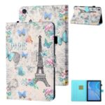 Patterned Leather Card Holder Stand Tablet Casing for Huawei Enjoy Tablet 2/MatePad T10/T10S/Honor Pad 6/Honor Pad X6 – Eiffel Tower