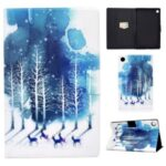 Pattern Printing Leather Stand for Huawei MatePad T10S/T10 Tablet Shell – Trees and Elks