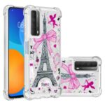 Patterned Quicksand Shockproof Protector for Huawei P smart 2021/Y7a TPU Cover – Tower