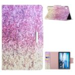 Automatic Sleep/Wake Function Leather Wallet Stand Pattern Printing Protective Case for Lenovo Tab M10 HD Gen 2 X306X – Pink and Yellow Gradient Sequins