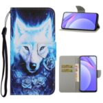 PU Leather Wallet Stand Phone Case for Xiaomi Mi 10T Lite 5G / Redmi Note 9 Pro 5G – Wolf