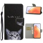PU Leather Wallet Stand Phone Case for Xiaomi Mi 10T Pro 5G / Mi 10T 5G / Redmi K30S – Cat