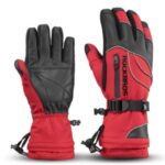 ROCKBROS S133 One Pair Winter Snow Ski Gloves Windproof Waterproof Warm Gloves – Red/Size: S