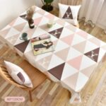 Table Runner Table Mat Table Flat Dinner Holiday Party Decor Table Mat Tablecloth – Pink//80*120cm