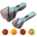 2PCS/Set Adjustable Measuring Cups and Spoons Set Magnetic Scoop