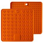 Thickened Silicone Heart-shaped Multi-functional Pad Thermal Insulation Mat – Orange