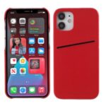 MUTURAL PC + TPU Hybrid Cover with Card Slot for iPhone 12 mini – Red