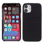 MUTURAL Hard PC + Soft TPU Combo Hybrid Cover Case with Card Slot for iPhone 12/12 Pro – Black