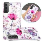 For Samsung Galaxy S21+ Marble Pattern Printing IMD Design TPU Cover – Lotus