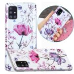 Marble Pattern Printing IMD Case for Samsung Galaxy A51 SM-A515 TPU Cover – Lotus