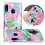 IMD Marble Pattern Printing for Samsung Galaxy A20e Case TPU Cover – Triangle and Rhombus