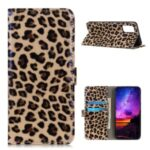 Leopard Texture Leather Protector Wallet Mobile Phone Cover for Samsung Galaxy A02s (EU Version)