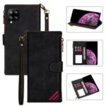 Wallet Phone Case PU Leather Coated TPU Cover for Samsung Galaxy A42 5G – Black