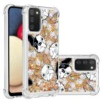 Shockproof Quicksand Protector Case with Pattern for Samsung Galaxy A02s (EU Version)/(US Version) – Dog