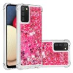 Funny Quicksand TPU Protective Cover Shell for Samsung Galaxy A02s (EU Version)/(US Version) – Rose