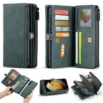 CASEME 018 Series Leather Detachable 2-in-1 Wallet Case for Samsung Galaxy S21 – Green