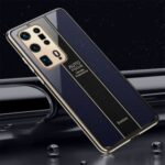 Precise Hole Opening Electroplating Frame Design PC+TPU Phone Cover Shell for Huawei P40 Pro+ – Blue