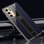 Precise Hole Opening Electroplating Frame Design PC+TPU Phone Cover Shell for Huawei P40 – Blue