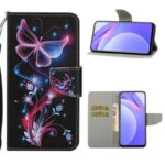TPU + PU Leather Wallet Stand Phone Case for Xiaomi Mi 10T Lite 5G/Redmi Note 9 Pro 5G – Butterfly