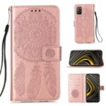 Dream Catcher Imprinting Design Magnetic Leather Stand Case for Xiaomi Poco M3 – Rose Gold